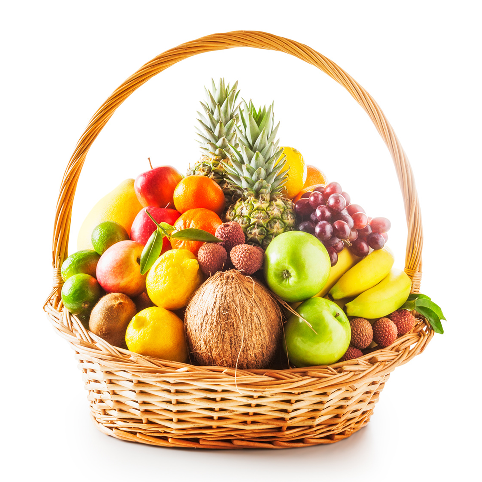 Basket Cake With Fruits