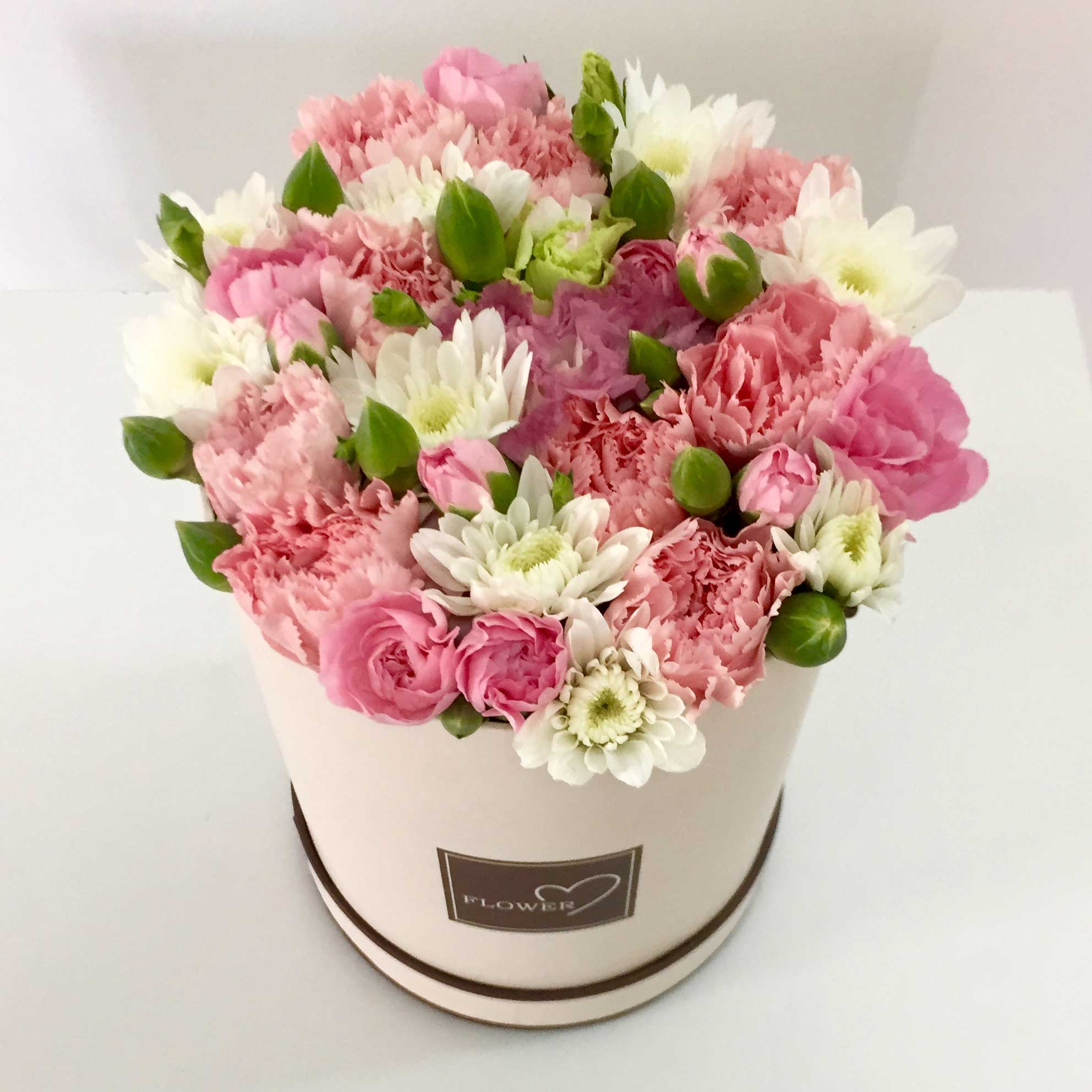 Pink White Flower Compilation Gift Box